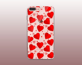 Love Clear TPU Phone Case for iPhone 8- iPhone 8 Plus - iPhone X - iPhone 7 Plus-iPhone 7-iPhone 6-iPhone 6S-Samsung S8