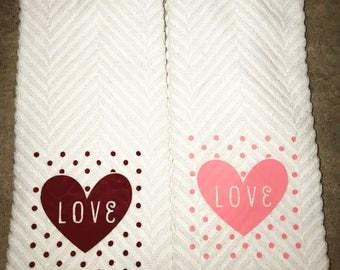 Valentines Dishtowel
