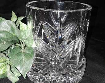 "Mikasa 2pc 24% Lead Crystal candle holder. 4 1/2"" tall w/base made in Germany"