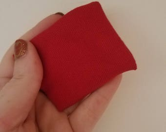 Cat toy / Red canvas fabric cat toy / catnip cat toy / kitty toy / catnip kitty toy