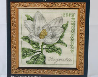 Counted Cross Stitch Pattern | Floral | Magnolia