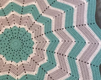 Made to order 12 point star blanket, crochet blanket, star blanket, baby blanket