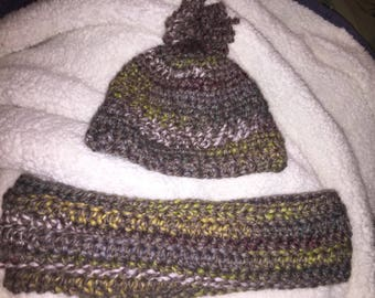 Infinity scarf and hat bundle