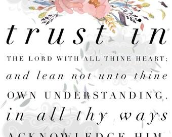Trust the Lord Digital Download