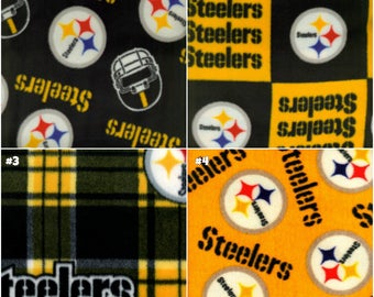 Pittsburgh Steelers - Toddler/Crib/Child/Teen/Adult/Oversize, NFL Blanket, Gift for Him, Fleece Blanket, No Sew Blanket, Fathers Day