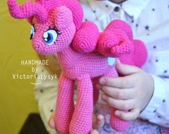 Pony Pinky Pie My little pony Crochet toy Amigurumi doll Toy for girl