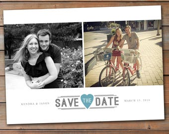 Save the Date Announcement, Save the Date Magnet, Save the Date Postcard, Up to 8 photos on this Save the Date Announcement