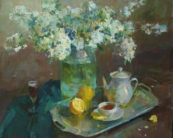 Oil painting, Still life, Original, Oil on canvas, Handmade ARTwork