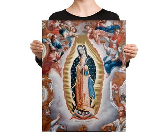 Canvas Print - Our Lady of Guadalupe - three sizes available - Virgin of Guadalupe wall art - home decor
