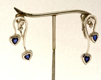 Earrings two hearts