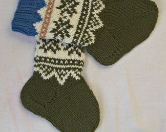 Kids socks with Norwegian pattern Wool kids socks Hand knitted wool kids socks Kid gift socks Baby wool soks Beautiful wool socks Buy socks