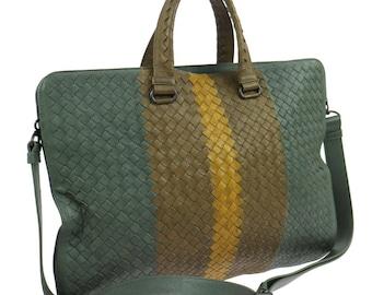 BOTTEGA VENETA. Italy.  Intrecciato Shoulderbag/Handbag, Gray Brown