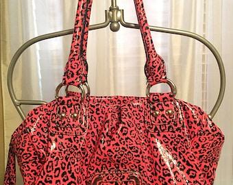 Guess Neon Pink Leopard print Purse