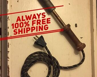 Vintage large soldering iron
