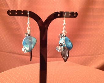 Blue Dangle/Drop Earrings