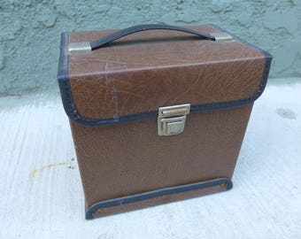"VINTAGE 1960s 45 RPM 7"" Inch Vinyl Case Box Holds Approx 50 Records  (2)"