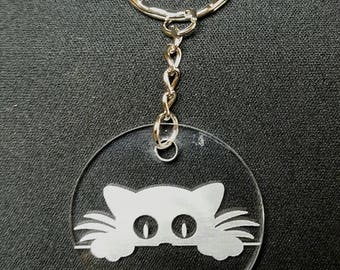 Keychain cat pattern