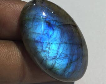 52.1 Cts 100% Natural Medagascar's Labradorite Cabochon Blue Flash Fire Polished Cabochon Healing Quartz Oval Shape 31x22x7 mm N#1272-7