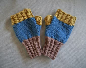 100% Organic Cotton Fingerless Mitts