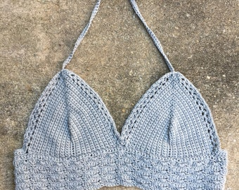 Crocheted Bralette Top | Crocheted Bikini Top | Cotton Bralette | Made to Order