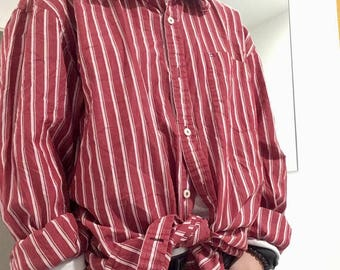 tommy hilfiger vintage red stripe shirt