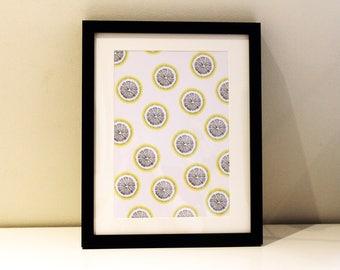 A4 Lemon Print