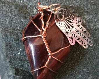 Red tigers eye pendant