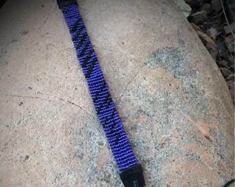 Purple and Black Cuff