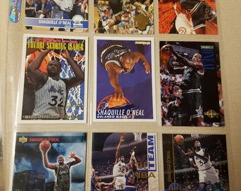 Nine Shaquille O'Neal cards