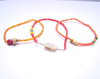 set of 3 bracelets - fire-