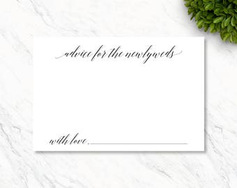 Instant Download, Printable Advice for the Newlyweds Card