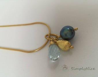 Topaz Necklace Gold