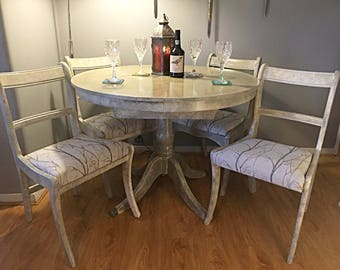 Upcycled Stone Effect Table and Chairs