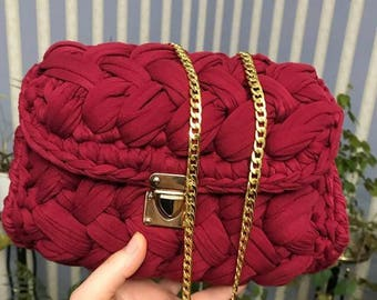 Knitted bag. Bag of jersey. Completely handmade !!!