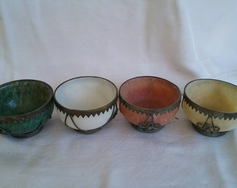 Stone and silver bowls
