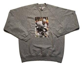 Wayne Gretzky Sweatshirt Sweater Vintage 1990 Usa Made - Sz Xl