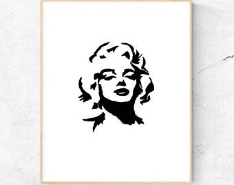 Marilyn Monroe Pop Art  Digital Print , Home Decor ,Wall Art Print , Digital Download.