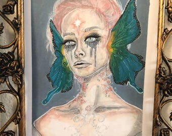 butterfly faerie / portrait of beetlejuicebabe