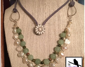 Ocean Water Pearl Necklace