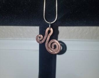 Copper Swirl Pendant #1