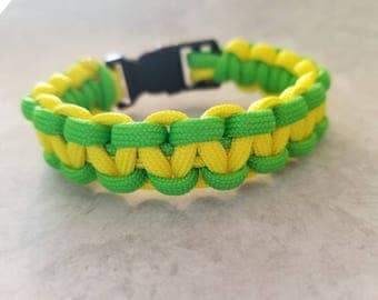 Yellow and Green Paracord Bracelet
