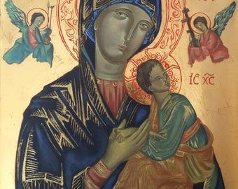 Our Lady of Perpetual Help icon / Byzantine, Orthodox icon from Poland