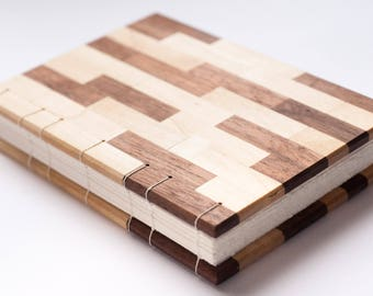 Maple and Walnut Handmade Blank Journal