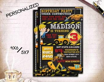 Construction,Construction Invitation,Construction Party,Construction Birthday,Construction Card,Construction Printable,Construction Boy,Boy