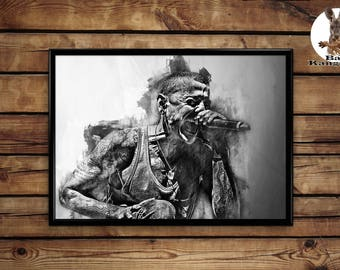 Chester Bennington print wall art home decor poster