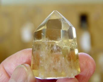 Polished Citrine Tower / 36mm x 26mm x 21mm / 1.1 oz / 28.2 gr / CT-02