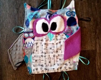Owl Taggy Blanket