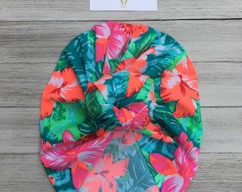 Bright Floral Turban