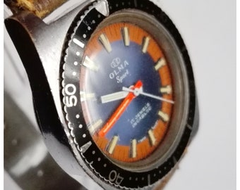 Vintage Olma sport 17 jewels incabloc - men Swiss made watch 70s