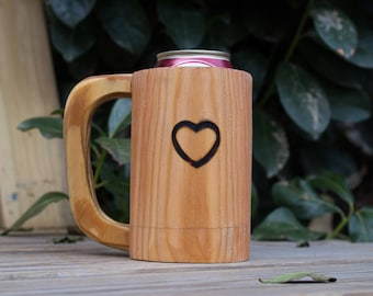 Wooden Mug Kozee - Heart